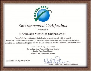 Green Seal GS-37 Cleaners Certification